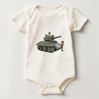 Body Para Bebê Tanque e soldados dos desenhos animados na