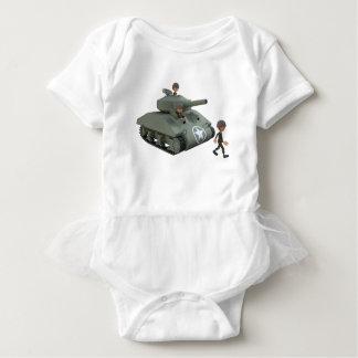 Body Para Bebê Tanque e soldados dos desenhos animados que vão