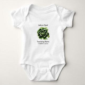 Body Para Bebê Tassinong cultiva o bebê principal da alface uma