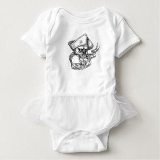 Body Para Bebê Tatuagem da fita da bandeira dos EUA do patriota