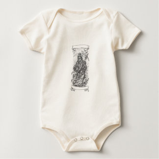 Body Para Bebê Tatuagem da fita do Scythe do Ceifador