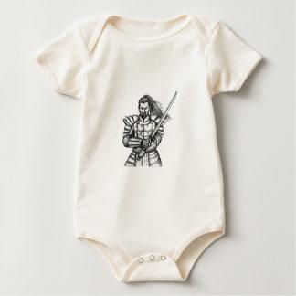 Body Para Bebê Tatuagem da posição da luta do guerreiro do