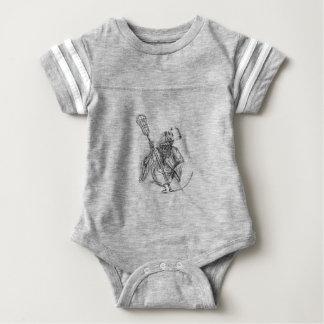 Body Para Bebê Tatuagem de Pólo da defesa do Lacrosse do Ceifador