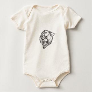 Body Para Bebê Tatuagem do círculo da corda da rosnadura da leoa