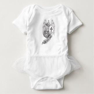 Body Para Bebê Tatuagem espartano do rosário do protetor do anjo