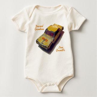 Body Para Bebê Táxi do amarelo da caixa de fósforos do vintage