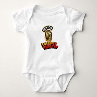Body Para Bebê Teatro Babygrow da ciência da ação