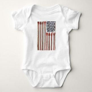 Body Para Bebê Tema patriótico da música da guitarra da bandeira
