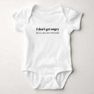 Body Para Bebê Têmpera curta