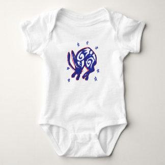 Body Para Bebê Terno bonito do bebê do coelho do sono