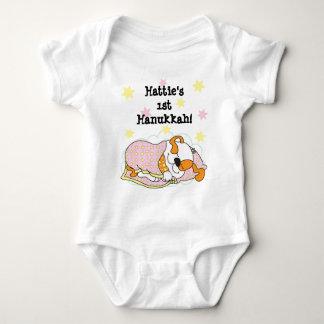 Body Para Bebê Terno/cão/rosa do corpo do bebê de Hanukkah