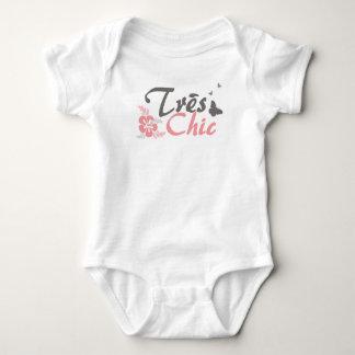 Body Para Bebê Terno chique do corpo de Tres