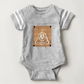 Body Para Bebê Terno de madeira 1 do futebol do bebê do 鮑鮑 do