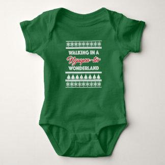 Body Para Bebê Terno do bebê do Natal do país das maravilhas de