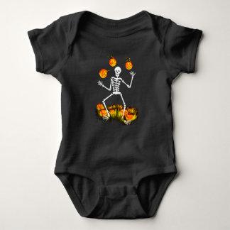 Body Para Bebê Terno do bebê um do Dia das Bruxas com esqueleto