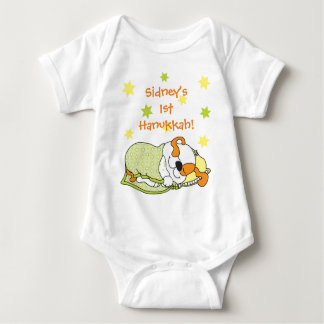 Body Para Bebê Terno do corpo do bebê de Hanukkah/cão/laranja do