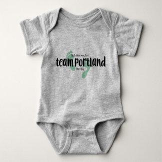 Body Para Bebê Terno do corpo do bebê de Portland da equipe