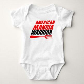 Body Para Bebê Terno do corpo do bebê do guerreiro de Mangia do