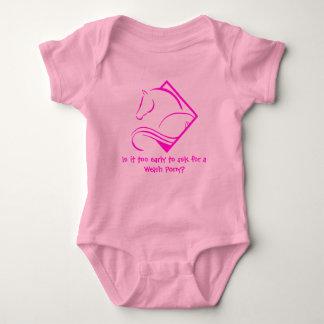 Body Para Bebê Terno do corpo do bebê do pônei de galês