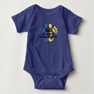 """Body Para Bebê Terno do corpo do bebê """"eu balanço um cromossoma"""