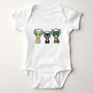 Body Para Bebê Terno do corpo dos gatos do estúdio