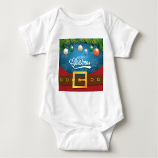 Body Para Bebê Terno do papai noel do Feliz Natal