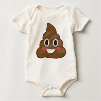 Body Para Bebê Terno orgânico super do bebê de Pooper Emoji Poo