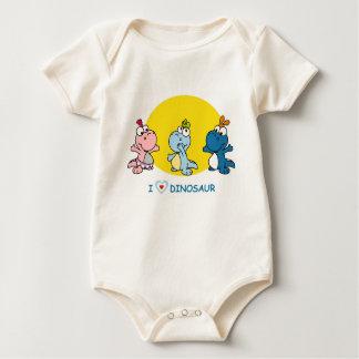 Body Para Bebê Terno pequeno do bebê de Dino