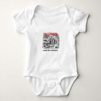 Body Para Bebê Terra de Illinois de Lincoln