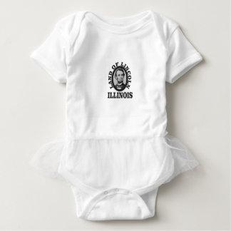 Body Para Bebê terra do retrato de lincoln