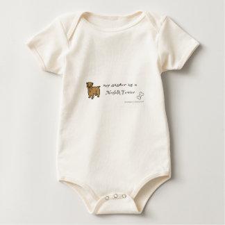 Body Para Bebê terrier de norfolk