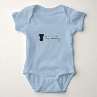 Body Para Bebê terrier de raposa do fio