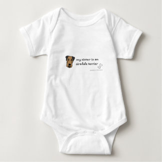Body Para Bebê terrier do airedale