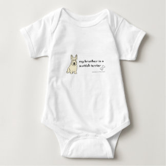 Body Para Bebê terrier escocês