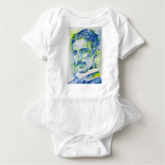 Body Para Bebê tesla do nikola - aguarela portrait.1