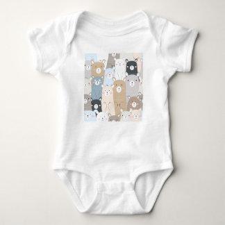 Body Para Bebê teste padrão bonito do pastel do cinza azul de