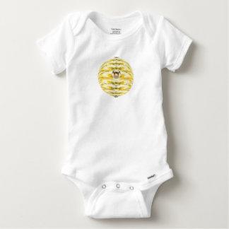 Body Para Bebê Teste padrão da colmeia da abelha da bola do disco