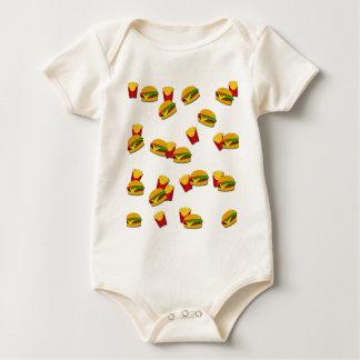 Body Para Bebê Teste padrão da comida lixo