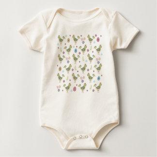 Body Para Bebê Teste padrão da páscoa