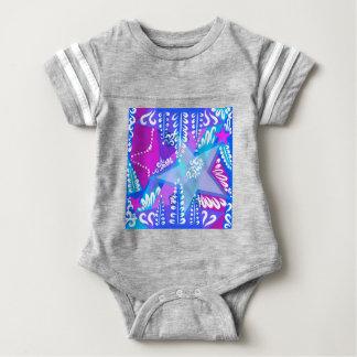 Body Para Bebê Teste padrão de estrelas crescente
