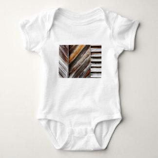 Body Para Bebê Teste padrão de madeira