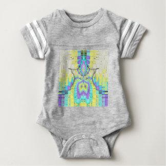 Body Para Bebê Teste padrão de néon festivo vibrante do abstrato