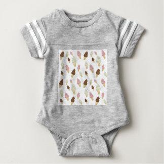 Body Para Bebê Teste padrão do cone do sorvete