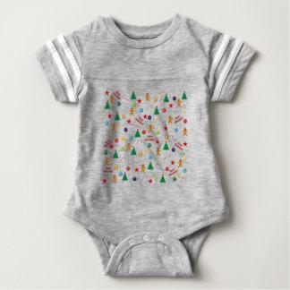Body Para Bebê Teste padrão do Natal