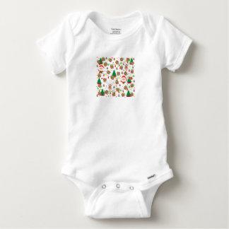 Body Para Bebê Teste padrão do papai noel e do Rudolph