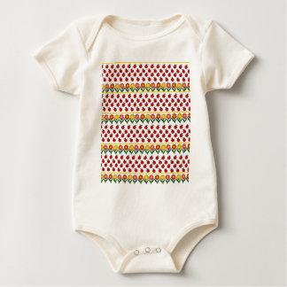 Body Para Bebê Teste padrão dos joaninhas e de flores