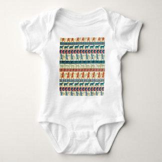 Body Para Bebê Teste padrão egípcio do unicórnio