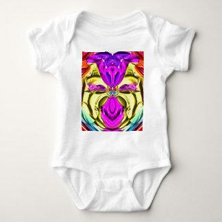 Body Para Bebê Teste padrão florescente legal do abstrato do