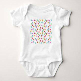 Body Para Bebê Teste padrão gomoso do urso