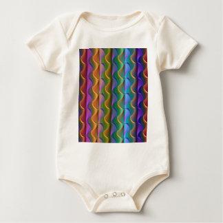 Body Para Bebê Teste padrão psicadélico colorido brilhante